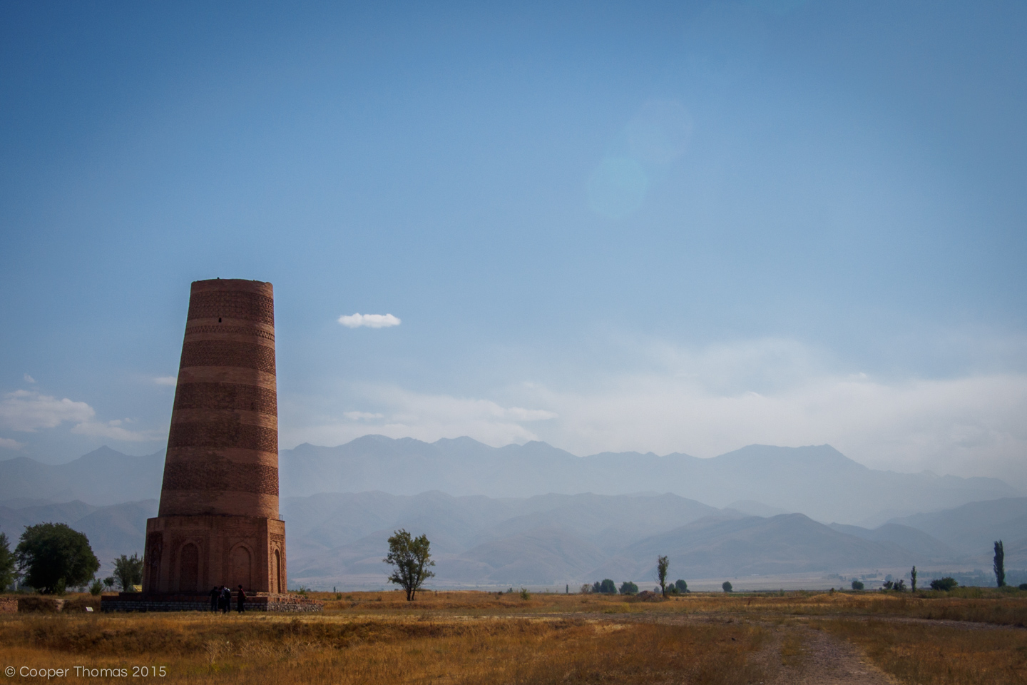 The tower in October. Haze obscures the mountains to the south