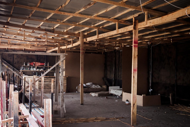 Interior of Disco Club Graffiti. The bar is still stocked, FYI.